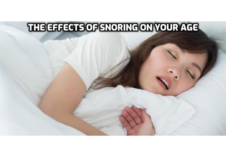 What is the Best Way to Conquer Snoring and Sleep Apnea Once and For All?  Conquer Snoring and Sleep Apnea Once and For All - The Effects of Snoring on Your Age. A study in the journal Sleep suggests that snoring and sleep-disordered breathing like sleep apnea can age our bodies faster. They reached this conclusion after studying 622 adults with an average age of 68.7, just over half of whom were female. Read on to find out more.