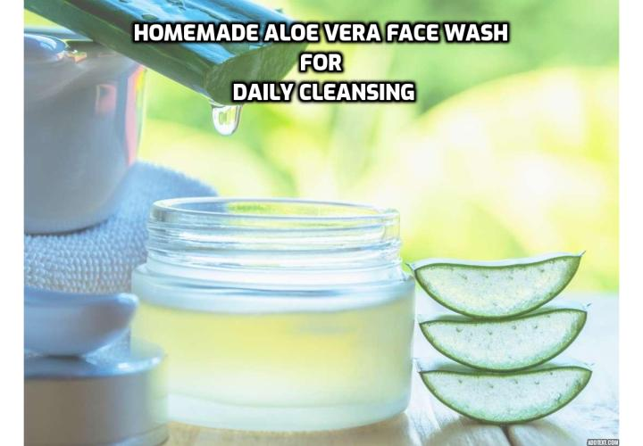 Washing your face feels good. It wakes you up, makes you feel fresh and clean and ready to face the day, and can help clear up certain skin issues. This aloe vera face wash is quite simple, and I have found that it works well on all types of skin, from dry to oily to combination