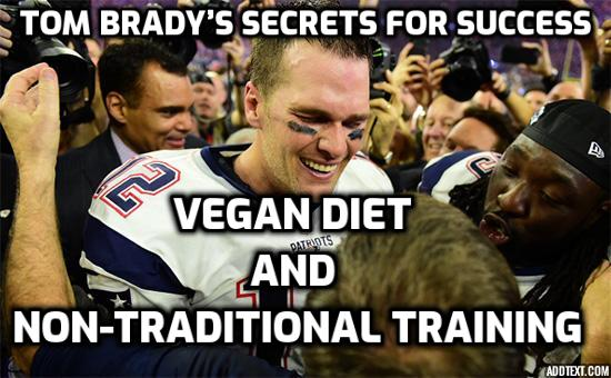 Vegan Diet and Athletic Performance – Tom Brady shares his secrets for success, as the greatest quarterback in the history of the football game, securing five Super Bowl rings and nearly a dozen other records.