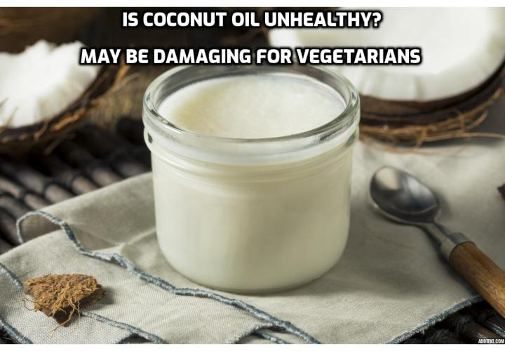 Coconut Oil Controversy – Coconut oil may pose a serious health risk for people on a low-fat, plant-based diet.Yes, that means most of our tribe. If you're a vegetarian that fits the description above, adding coconut oil can increase inflammation and decrease blood vessel flow, which can cause serious damage. There are zero omega-3 fats, the essential fats people actually need.