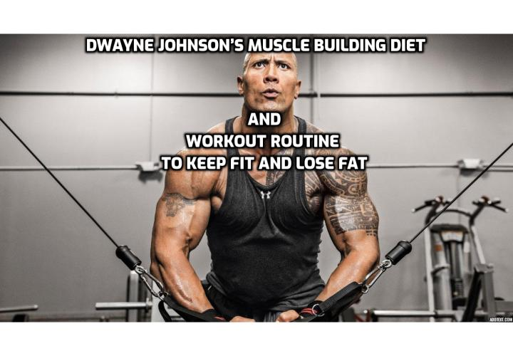 Muscle Building Diet and Workout Routine to Keep Fit and Lose Fat – Dwayne Johnson uses mindful strength training as well as mindful eating to help him keep fit and lose fat. Dwayne trains as virtually all top-performing bodybuilders and athletes do.
