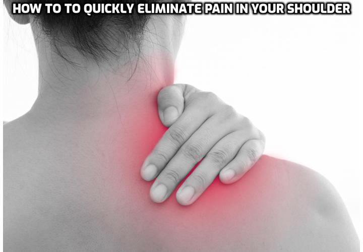 It is really easy to quickly eliminate pain in your shoulder. Sports professionals have been relying on physiotherapy for years, as have medical professionals. The majority of shoulder injuries can be quickly resolved at home in a few weeks through some basic rehabilitation. And it works no matter how old you are, for most injuries and types of pain, and even for long term (so called