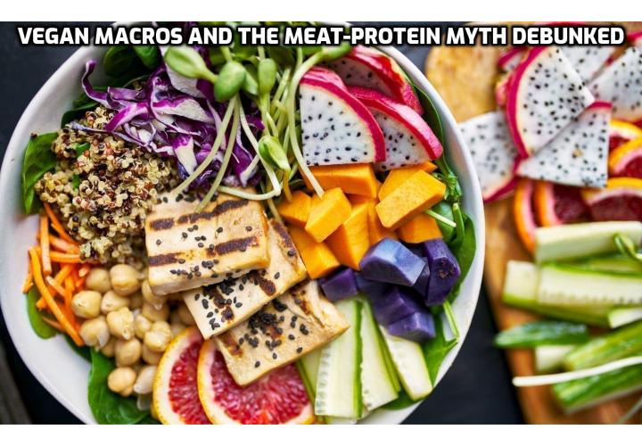It's a myth that you can't get enough of vegan macros in a vegan bodybuilding diet. If you eat enough of the right calories and protein, train hard, and get enough sleep, you will build muscle as a vegetarian or vegan.