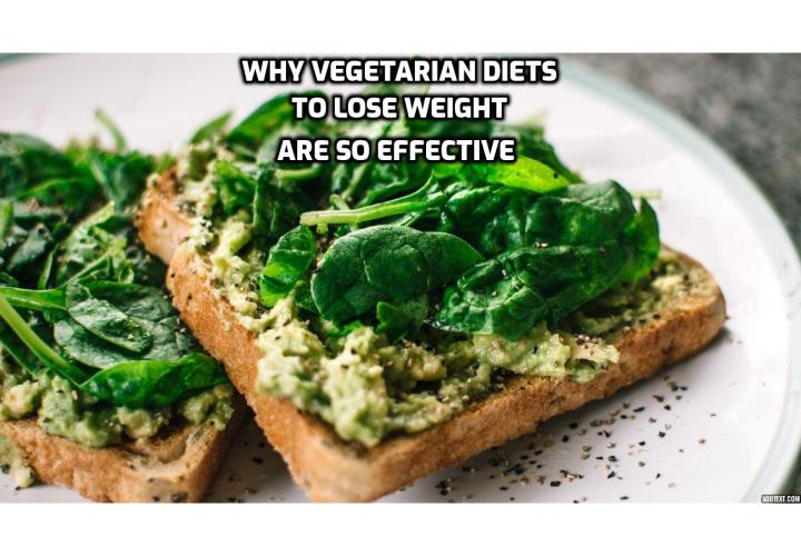 Why vegetarian diets to lose weight are so effective? Plant-based meals typically contain fewer calories than meat-based ones — simple as that. But the connection between meat-free diets and weight loss goes beyond that. Plant-based foods are more nutrient dense, which means your body doesn't need to consume as many of them to fulfill its needs. Many plant-based foods are packed with fiber, such as lentils and broccoli, which helps you feel full faster and stay feeling full for longer. It's also incredibly difficult to overeat when you're fuelling your body with fruits and vegetables.